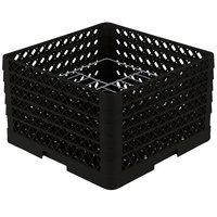 Vollrath PM1510-5 Traex® Plate Crate Black 15 Compartment Plate Rack - Holds 9 inch to 10 3/4 inch Plates