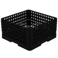 Vollrath PM1510-4 Traex® Plate Crate Black 15 Compartment Plate Rack - Holds 8 3/4 inch to 9 3/16 inch Plates