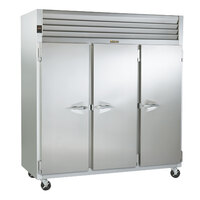 Traulsen AIH332LP-FHS 117.5 Cu. Ft. Three Section Roll-Thru Heated Holding Cabinet for 66 inch Pan Racks - Specification Line