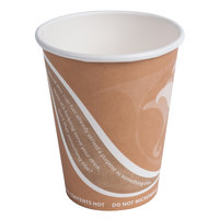 Eco Products EP-BRHC8-EW Evolution World PCF 8 oz. Hot Cups - 50 / Pack