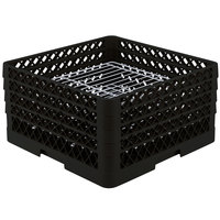 Vollrath PM3208-4 Traex® Plate Crate Black 32 Compartment Plate Rack - Holds 7 5/8 inch to 8 inch Plates