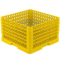 Vollrath PM1211-5 Traex® Plate Crate Yellow 12 Compartment Plate Rack - Holds 9 3/16 inch to 10 3/4 inch Plates