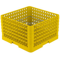 Vollrath PM1510-5 Traex® Plate Crate Yellow 15 Compartment Plate Rack - Holds 9 inch to 10 3/4 inch Plates