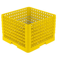 Vollrath PM0912-6 Traex® Plate Crate Yellow 9 Compartment Plate Rack - Holds 11 1/4 inch to 12 1/2 inch Plates