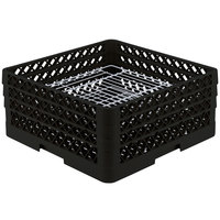 Vollrath PM4407-3 Traex Plate Crate Black 44 Compartment Plate Rack - Holds 6 inch to 7 inch Plates