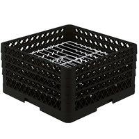 Vollrath PM2209-3 Traex Black 22 Compartment Plate Rack - 7 inch-7 7/8 inch