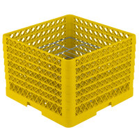 Vollrath PM1412-6 Traex® Plate Crate Yellow 14 Compartment Plate Rack - Holds 10 3/4 inch to 12 5/16 inch Plates