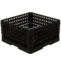Vollrath PM1211-4 Traex® Plate Crate Black 12 Compartment Plate Rack - Holds 8 3/4 inch to 9 3/16 inch Plates