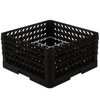 Vollrath PM1211-4 Traex Black 12 Compartment Plate Rack - 8 3/4 inch-9 3/16 inch