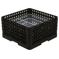 Vollrath PM3008-4 Traex® Plate Crate Black 30 Compartment Plate Rack - Holds 8 inch to 8 3/8 inch Plates