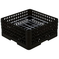 Vollrath PM2006-3 Traex Black 20 Compartment Plate Rack - 4 3/4 inch-6 1/2 inch