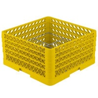 Vollrath PM1510-4 Traex® Plate Crate Yellow 15 Compartment Plate Rack - Holds 8 3/4 inch to 9 3/16 inch Plates