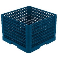 Vollrath PM1412-6 Traex Royal Blue 14 Compartment Plate Rack - 10 3/4 inch-12 5/16 inch