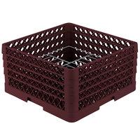 Vollrath PM1510-4 Traex Burgundy 15 Compartment Plate Rack