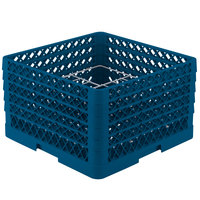 Vollrath PM1211-5 Traex Royal Blue 12 Compartment Plate Rack - 9 3/16 inch-10 3/4 inch