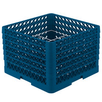 Vollrath PM1211-6 Traex Royal Blue 12 Compartment Plate Rack - 10 3/4 inch-11 3/16 inch