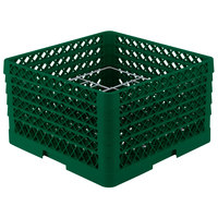 Vollrath PM1211-5 Traex Plate Crate Green 12 Compartment Plate Rack - Holds 9 3/16 inch to 10 3/4 inch Plates