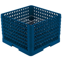 Vollrath PM1912-6 Traex Royal Blue 19 Compartment Plate Rack - 11 inch-12 inch