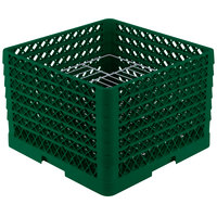 Vollrath PM1912-6 Traex Green 19 Compartment Plate Rack - 11 inch-12 inch