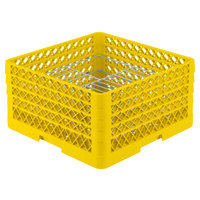 Vollrath PM2110-4 Traex® Plate Crate Yellow 21 Compartment Plate Rack - Holds 8 3/4 inch to 9 3/16 inch Plates