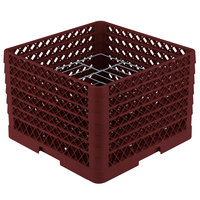 Vollrath PM1412-6 Traex Burgundy 14 Compartment Plate Rack - 10 3/4 inch-12 5/16 inch