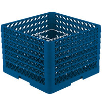 Vollrath PM2011-5 Traex Royal Blue 20 Compartment Plate Rack - 10 inch-10 3/4 inch