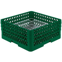 Vollrath PM4407-3 Traex Plate Crate Green 44 Compartment Plate Rack - Holds 6 inch to 7 inch Plates