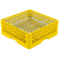 Vollrath PM3807-2 Traex® Plate Crate Yellow 38 Compartment Plate Rack - Holds 5 inch to 6 1/8 inch Plates
