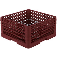 Vollrath PM1211-4 Traex Burgundy 12 Compartment Plate Rack - 8 3/4 inch-9 3/16 inch