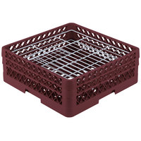 Vollrath PM3807-2 Traex® Plate Crate Burgundy 38 Compartment Plate Rack - Holds 5 inch to 6 1/8 inch Plates