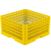 Vollrath PM2209-4 Traex® Plate Crate Yellow 22 Compartment Plate Rack - Holds 7 inch to 8 3/4 inch Plates