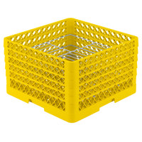 Vollrath PM2110-5 Traex® Plate Crate Yellow 21 Compartment Plate Rack - Holds 9 3/16 inch to 10 inch Plates