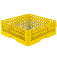 Vollrath PM3208-2 Traex® Plate Crate Yellow 32 Compartment Plate Rack - Holds 4 3/4 inch to 6 1/4 inch Plates