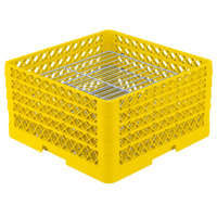 Vollrath PM3008-4 Traex® Plate Crate Yellow 30 Compartment Plate Rack - Holds 8 inch to 8 3/8 inch Plates