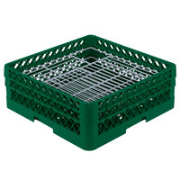 Vollrath PM4806-2 Traex Plate Crate Green 48 Compartment Plate Rack - Holds 5 inch to 6 inch Plates