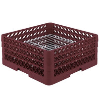 Vollrath PM3208-3 Traex® Plate Crate Burgundy 32 Compartment Plate Rack - Holds 4 3/4 inch to 7 5/8 inch Plates