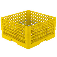 Vollrath PM1211-4 Traex® Plate Crate Yellow 12 Compartment Plate Rack - Holds 8 3/4 inch to 9 3/16 inch Plates