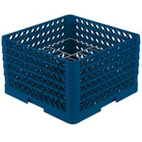 Vollrath PM1510-5 Traex® Plate Crate Royal Blue 15 Compartment Plate Rack - Holds 9 inch to 10 3/4 inch Plates