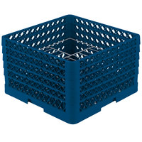 Vollrath PM1510-5 Traex Royal Blue 15 Compartment Plate Rack - 9 inch-10 3/4 inch