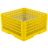 Vollrath PM3208-4 Traex® Plate Crate Yellow 32 Compartment Plate Rack - Holds 7 5/8 inch to 8 inch Plates