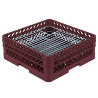 Vollrath PM4806-2 Traex® Plate Crate Burgundy 48 Compartment Plate Rack - Holds 5 inch to 6 inch Plates