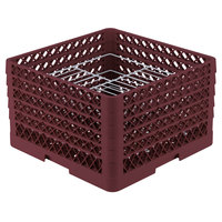 Vollrath PM2110-4 Traex Burgundy 21 Compartment Plate Rack - 8 3/4 inch-9 3/16 inch