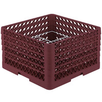 Vollrath PM2011-5 Traex Burgundy 20 Compartment Plate Rack - 10 inch-10 3/4 inch