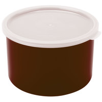 Cambro CP15195 Reddish Brown Round Crock with Lid 1.5 Qt. - 6/Case