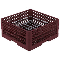 Vollrath PM2006-3 Traex Burgundy 20 Compartment Plate Rack - 4 3/4 inch-6 1/2 inch