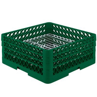 Vollrath PM3208-3 Traex Plate Crate Green 32 Compartment Plate Rack - Holds 4 3/4 inch to 7 5/8 inch Plates