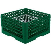 Vollrath PM3208-3 Traex Green 32 Compartment Plate Rack - 4 3/4 inch-7 5/8 inch