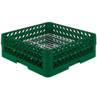 Vollrath PM3208-2 Traex Plate Crate Green 32 Compartment Plate Rack - Holds 4 3/4 inch to 6 1/4 inch Plates
