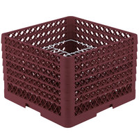Vollrath PM2011-6 Traex Burgundy 20 Compartment Plate Rack - 10 3/4 inch-11 inch