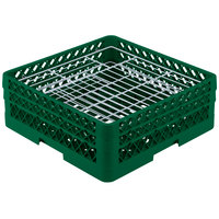 Vollrath PM3807-2 Traex Plate Crate Green 38 Compartment Plate Rack - Holds 5 inch to 6 1/8 inch Plates